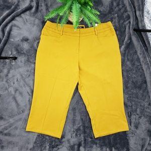 Apt. 9 Mustard Modern Fit Straight Leg Pants